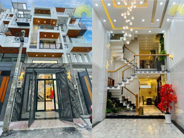 Nhà phố hiện đại có thang máy với diện tích 70m²